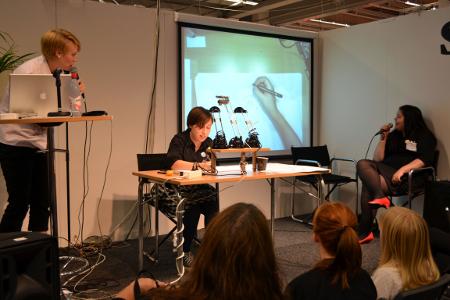 Amanda Hakim, Fanny Bystedt, Malin Biller på bokmässan 2011