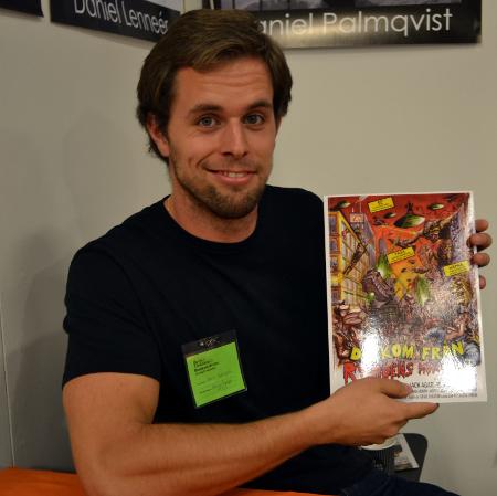 Oscar Hjelmgren på bokmässan 2011