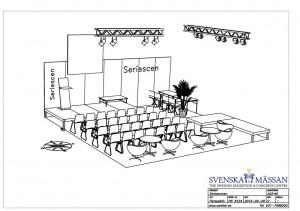 Den officiella planeringen för Seriescenens utformning 2012.