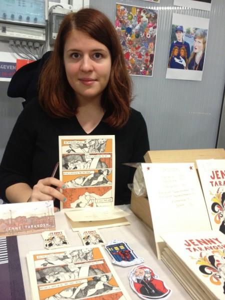 Jenny Taravosh skapar politiska, journalistiska serier. Foto: Marcus Linda Lindmark.