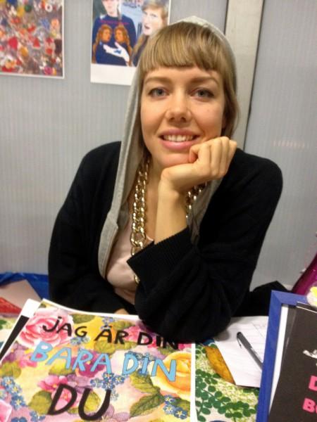 Serieskaparen och radioprofilen Sara Hansson var på AltCom 2012. Foto: Marcus Linda Lindmark.