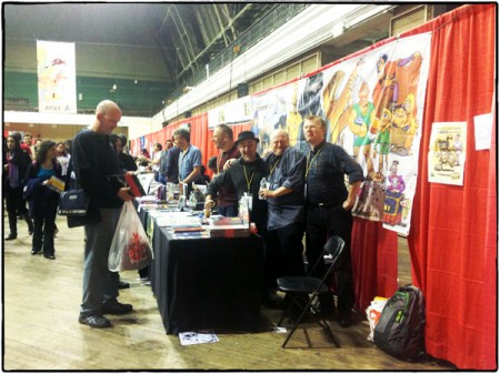 Nordic Comics Alley, med de danska borden närmast bilden.