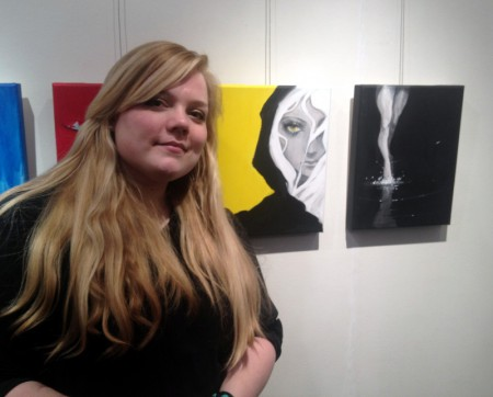 Diana Jacobsson ställde också ut. Foto: Malinda Lindmark