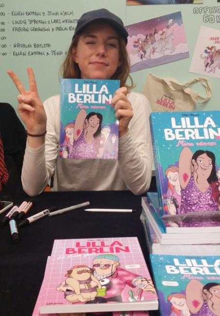 """Ellen Ekman med """"Lilla Berlin"""" på bokmässan 2014. Foto: Malinda Lindmark."""