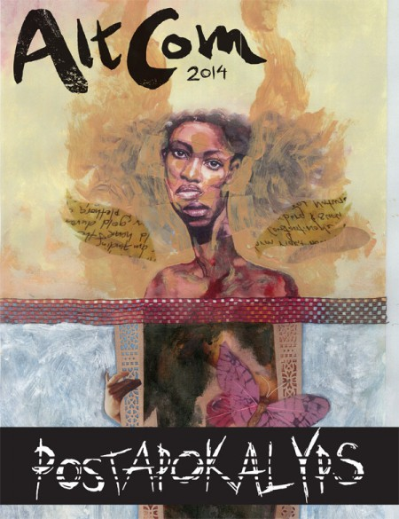 Temat POSTAPOKALYPS skildras i en serieantologi som delas ut gratis under hela festivalen. Omslag av David Mack.